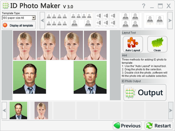 Click to view ID Photo Maker 3.2 screenshot